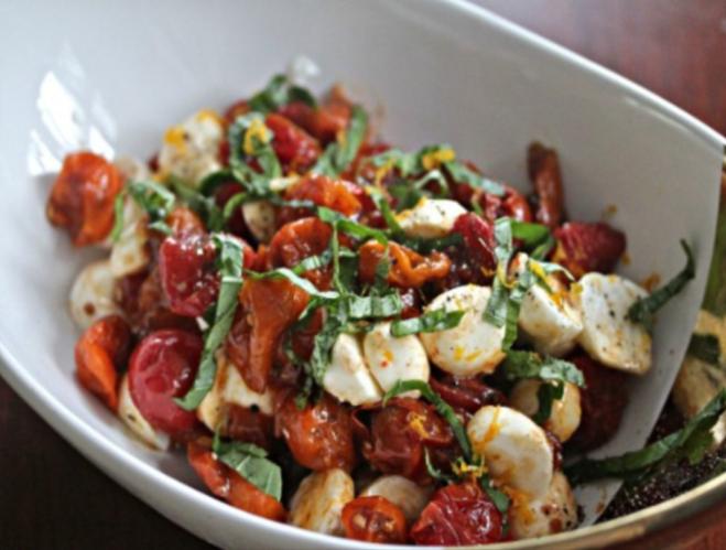 baked tomatos salad
